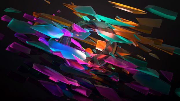 Заставки светящиеся, neon crystals, transparent ring