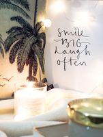 Photo free inscription, motivation, candles