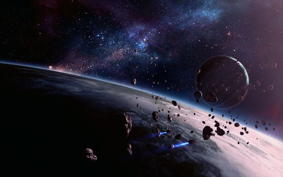 Фото бесплатно астероиды, метеориты, планеты