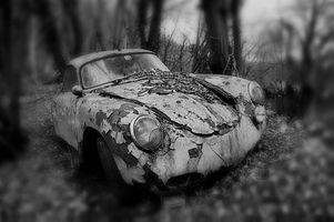 Заставки porsche,потерял,места,автомобиль,черный,черное и белое,автомашина