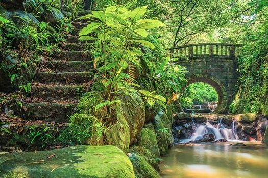 Photo free Huashan trail Creek, China, waterfall
