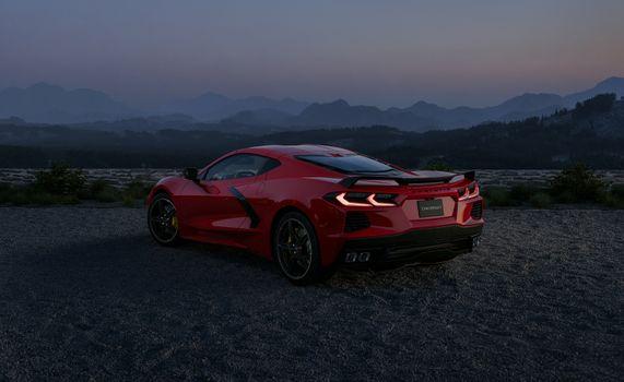Фото бесплатно Chevrolet Corvette, Chevrolet, автомобили 2020 года