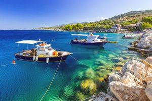 Бесплатные фото Греция,море,лодки