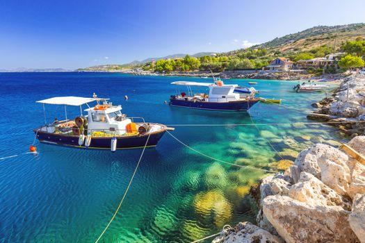 Фото бесплатно Греция, море, лодки