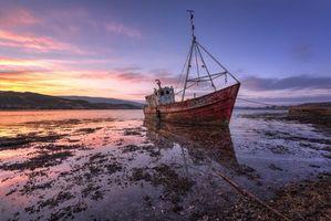 Бесплатные фото Mulroy Bay, Милфорд, графство Донегал, Ирландия, закат, лодка, пейзаж