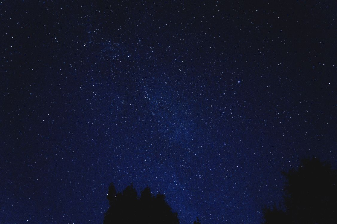 Фото бесплатно звездное небо, сияние, ночь, синий, starry sky, shine, night - на рабочий стол