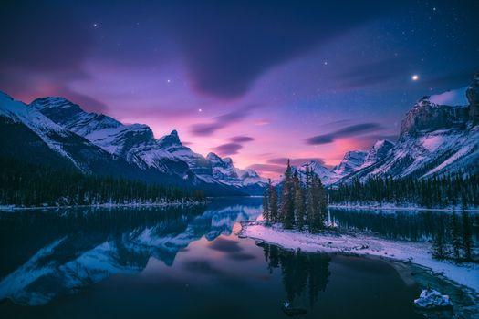 Photo free Canada, Jasper National Park, lights