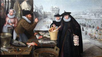Бесплатные фото темные века,снег,зима,замок,история,картина