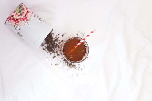 Photo free white, tea, jar