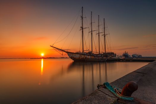 Photo free nature, sun, ship