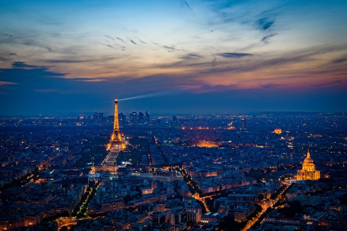 Фото бесплатно Франция, город, ночь - на рабочий стол