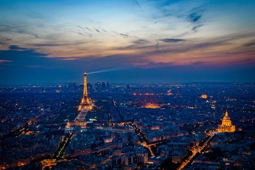 Photo free France, city, night