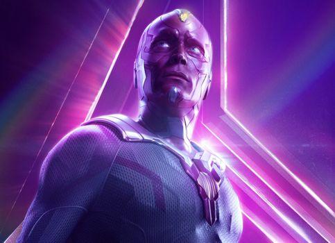 Фото бесплатно Vision, Avengers Infinity War, 2018 Movies