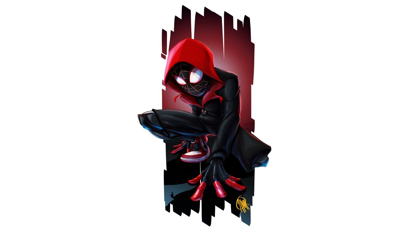 Фото Человек-Паук в стихе паука мультфильм - бесплатные картинки на Fonwall