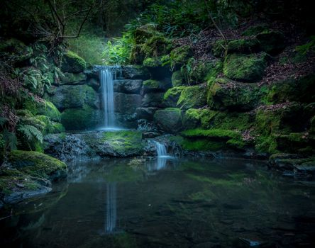 Photo free Mossgreen Fairy Dell, Scotland, waterfall