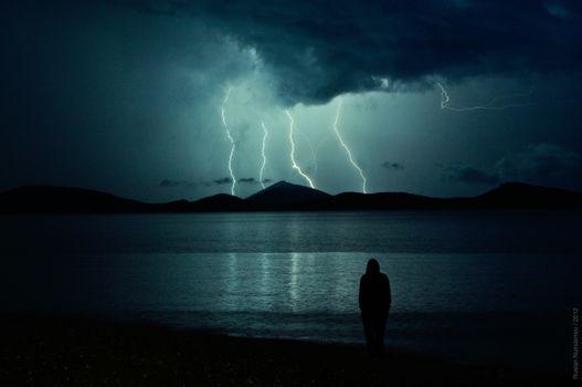 Photo free nature, night, atmosphere