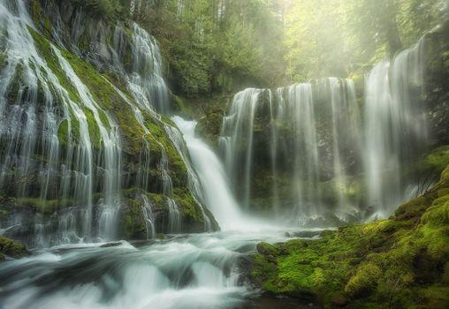 Photo free Panther Creek Falls, Washington, waterfall