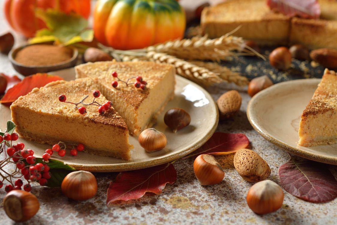 Обои пирог, орехи, десерт, тыква, пшено на телефон | картинки еда