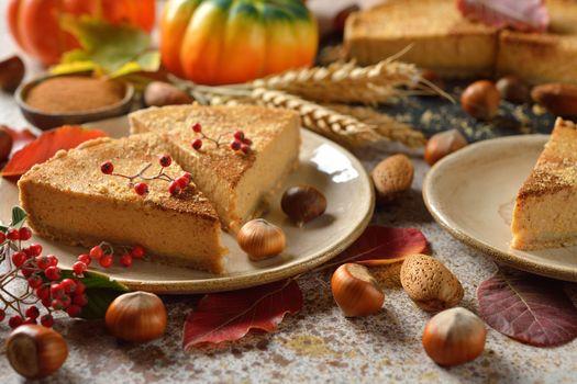 Фото бесплатно пирог, орехи, десерт