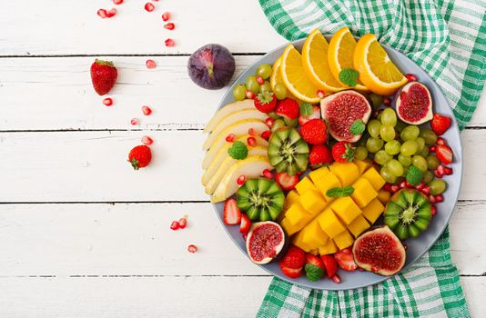 Фото бесплатно киви, тарелка с фруктами, инжир