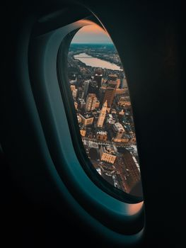 The window on the plane · free photo