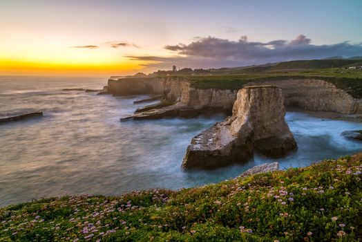 Фото бесплатно закат, океан, побережье