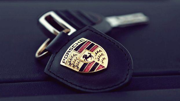 Photo free key chain, car keys, Porsche