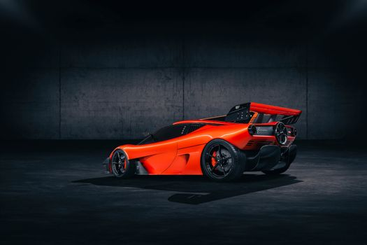 Photo free rear end, orange, 2021 cars