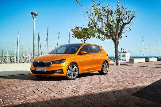 Photo free cars, Skoda, orange