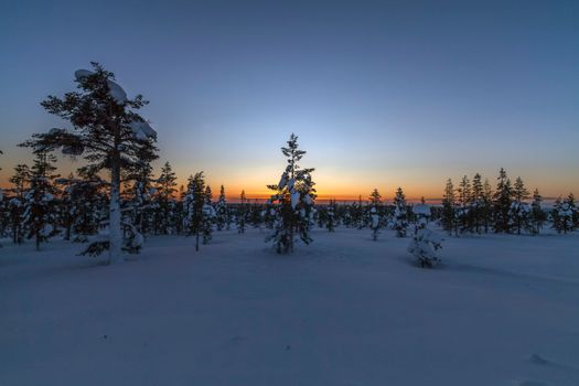 Photo free Lapland, Sunset, Saariselka
