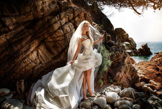 Фото бесплатно невеста, белый, платье