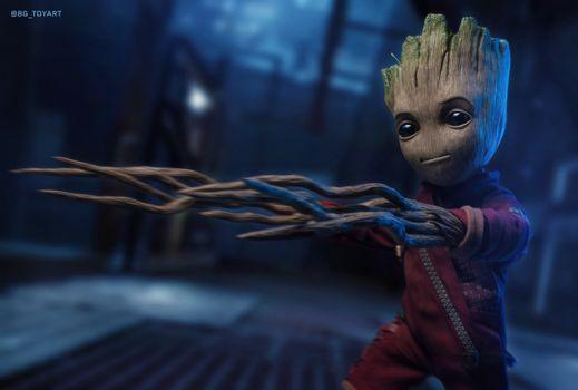 Photo free superheroes, baby Groot, Groot
