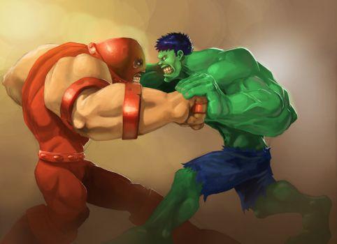 Photo free hulk, superheroes, digital art