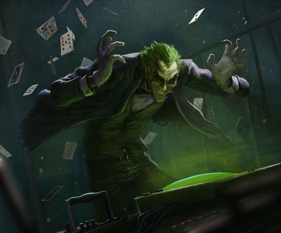Обои художественное произведение, Joker, Digital Art картинки на телефон