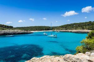 Бесплатные фото море, яхты, скалы
