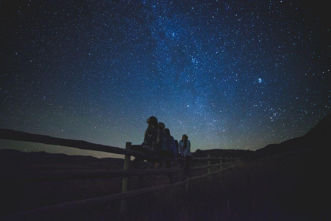Фото на открытом воздухе небо ночь - бесплатные картинки на Fonwall