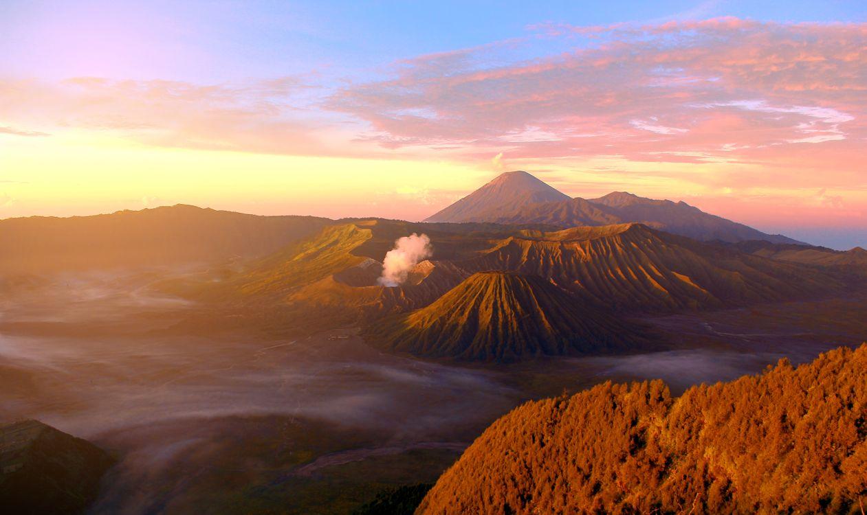 Фото бесплатно восход, небо, рассвет, гора, послесвечение, highland, монтировать декорации, утро, национальный парк, атмосфера, вулканический рельеф, горизонт, облако, плато, горный хребет, пейзажи