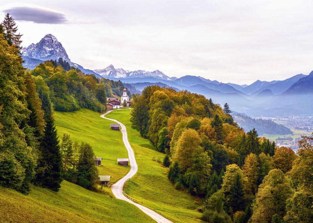 Фото бесплатно Баварские Альпы, Гармиш-Партенкирхен, Бавария, Германия, пейзажи - скачать на рабочий стол