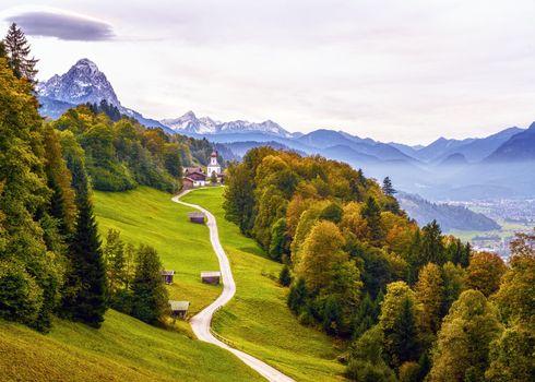 Фото бесплатно Баварские Альпы, Гармиш-Партенкирхен, Бавария