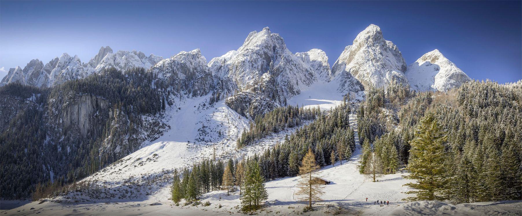Фото бесплатно Gosau, Austria, горы - на рабочий стол