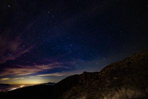 Бесплатные фото звездное небо,горы,звезды,ночь,starry sky,mountains,stars