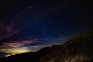 Photo free starry sky, mountains, stars