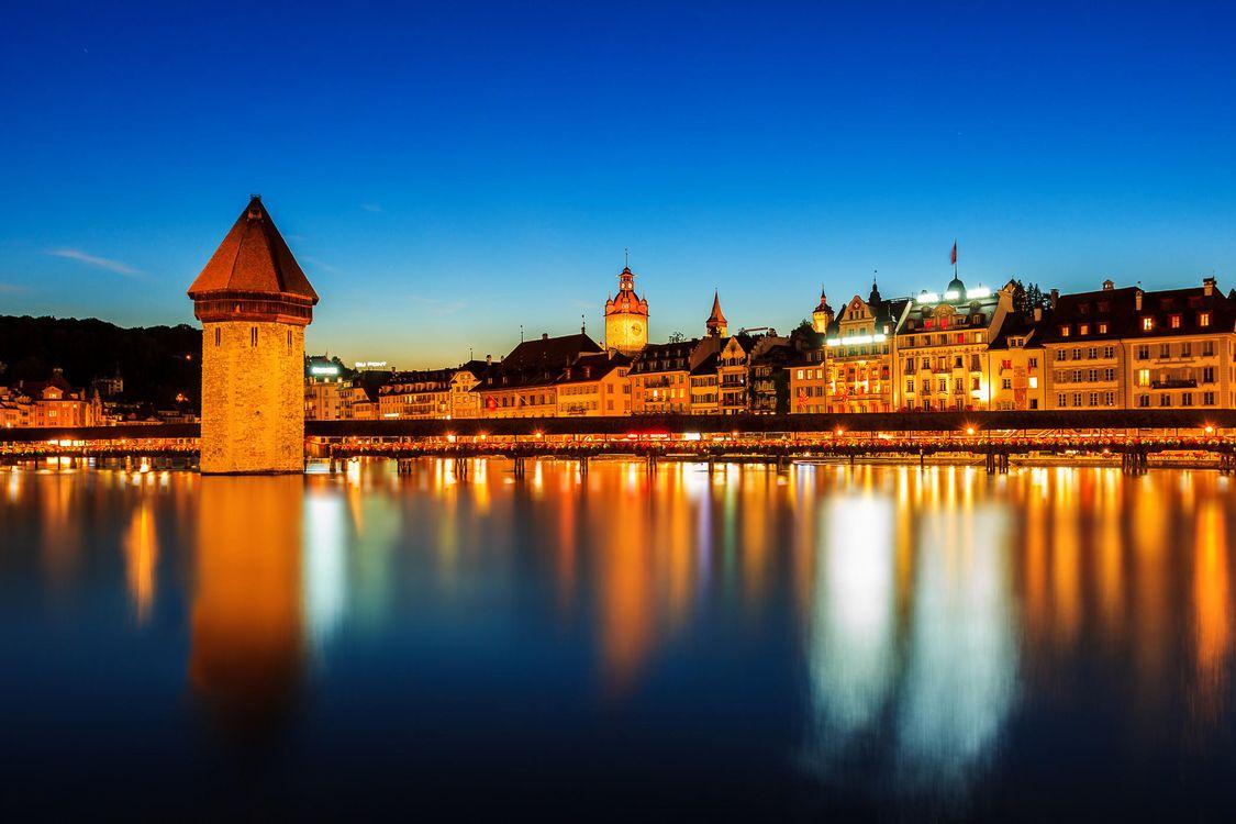 Фото бесплатно Люцерн, Швейцария, город - скачать на рабочий стол