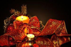 Фото бесплатно Рождественские украшения, огонь, Новогодний стиль
