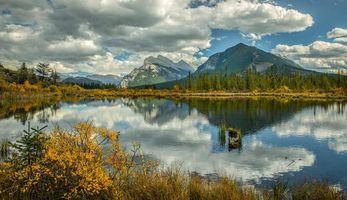 Photo free Vermillion Lake, lake, autumn