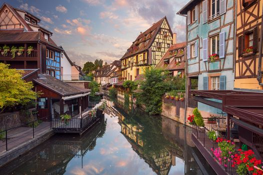 Photo free France, river, Colmar city