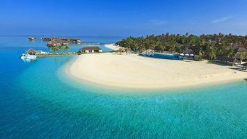 Бесплатные фото море,остров,пляж,пальмы,отдых,тропики,мальдивы