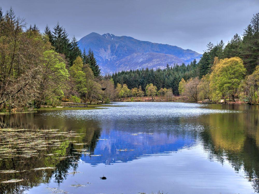 Фото бесплатно Пруд, Гленко-Лохан, Шотландия, пейзаж, пейзажи