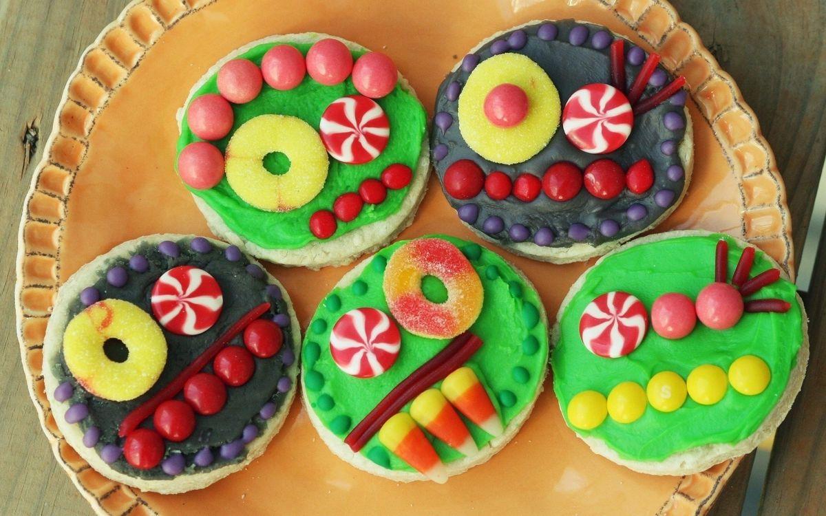 Фото бесплатно еда, печенье, перечная мята, кукуруза, сахар, десерт, обледенение - на рабочий стол