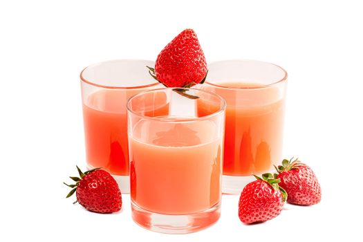 Photo free food, juice, strawberry